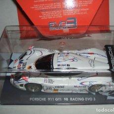 Slot Cars: PORSCHE 911 GT1 98 1º LE MANS 1998 CON IMAN DE FLY REF.-07043. Lote 77443373