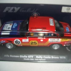 Slot Cars: ALFA ROMEO GIULIA RALLY COSTA BRAVA 1976 DE FLY REF.-88127. Lote 77575033
