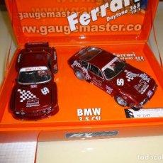 Slot Cars: FLY. FERRARI 365 + BMW 3.5. ED. ESPECIAL GAUGEMASTER. REF. E-651. Lote 88631308