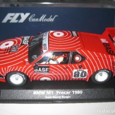 Slot Cars: 88171- BMW M1 DECORACION BASF DESCATALOGADO DE FLY. Lote 261957475