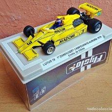 Slot Cars: FLYSLOT 058102 - LOTUS 78 GP AURORA 1979 EMILIO VILLOTA. Lote 92163990