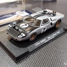 Slot Cars: FLY SLOT SCALEXTRIC - FORD MKII 24 H LE MANS 1966 EDICIÓN ESPECIAL MINIAUTO REF 96012. Lote 96417955