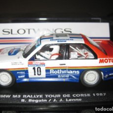 Slot Cars: BMW M3 ROTHMANS RALLY TOUR DE CORSE DEL 87 DE SLOTWINGS. Lote 112067976