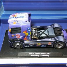 Slot Cars: FLY CAMION MERCEDES BENZ ATEGO LUKAS SPORTS TRUCKS 2003 E-TRUCK 23 REF. 96025. Lote 103137716