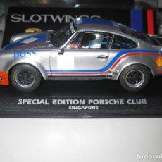 Slot Cars: PORSCHE 911 EDICION ESPECIAL PARA EL CLUB DE PORSCHE DE SINGAPORE DE SLOTWINGS. Lote 128683823