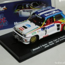 Slot Cars: RENAULT 5 TURBO CHUS PURAS SLOTWINGS/ SCALEXTRIC. Lote 106633211
