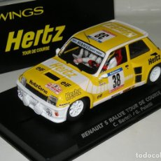 Slot Cars: RENAULT 5 TURBO HERZ SLOTWINGS/ SCALEXTRIC . Lote 106633247