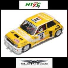 Slot Cars: SLOTWINGS RENAULT 5 TURBO #38 HERTZ TOUR DE CORSE 1984 BARTOLI / POLETTI W037-02. Lote 119930316
