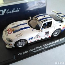 Slot Cars: FLY CAR MODEL CHRYSLER VIPER GTS-R SILVERSTONE BGTC 2003, . REF. A208 88131, VÁLIDO SCALEXTRIC. Lote 110083523