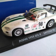 Slot Cars: FLY CAR MODEL DODGE VIPER GTS-R ,DAYTONA 96, REF A 1 , VÁLIDO SCALEXTRIC. Lote 110084487