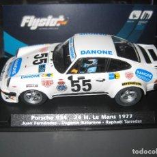 Slot Cars: PORSCHE 934 DECORACION DANONE 24 H. LE MANS 1977 DE FLYSLOT. Lote 195091500