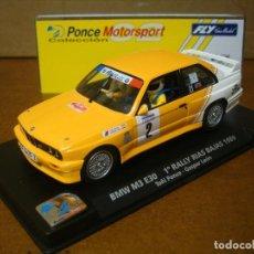 Slot Cars: FLY BMW M3 E30 TOÑI PONCE REF 99062 NUEVO CON SU CAJA ORIGINAL. Lote 112168027