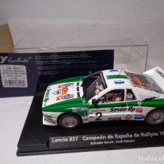 Slot Cars: FLY LANCIA 037 CAMPEON DE ESPAÑA DE RALLYES 1986 SERVIA-SABATER A-991 REF. 88148. Lote 112272787