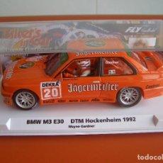 Slot Cars: COCHE DE SLOT BMW M3 E30 GTM HOCKENHEIM 1992 DE WAYNE GARDNER , FLY, ESTRENO. Lote 112506311