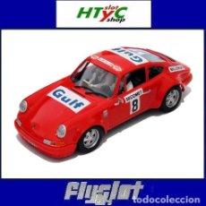 Slot Cars: FLYSLOT PORSCHE 911 S #8 1º RALLYE SUECIA 1968 BJORN WALDEGARD / LARS HELMÉR GULF FLY 036108. Lote 117216643