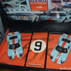 Slot Cars: TEAM-05 GULF FORD GT-40 DE FLY REF.-96016. Lote 118260455