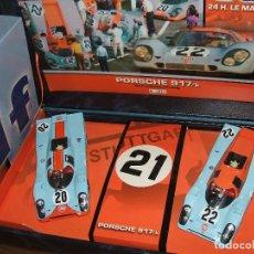 Slot Cars: TEAM PORSCHE 917 GULF LE MANS 1970 DE FLY . Lote 118260603