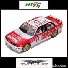 Slot Cars: SLOTWINGS BMW M3 E30 #14 BASTOS MOTUL TOUR DE CORSE 1989 CHATRIOT / PERIN W038-03. Lote 132519445