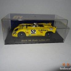 Slot Cars: PORSCHE 908 FLUNDER LE MANS 1973 DE FLY DESCATALOGADÍSIMO .. Lote 120107999