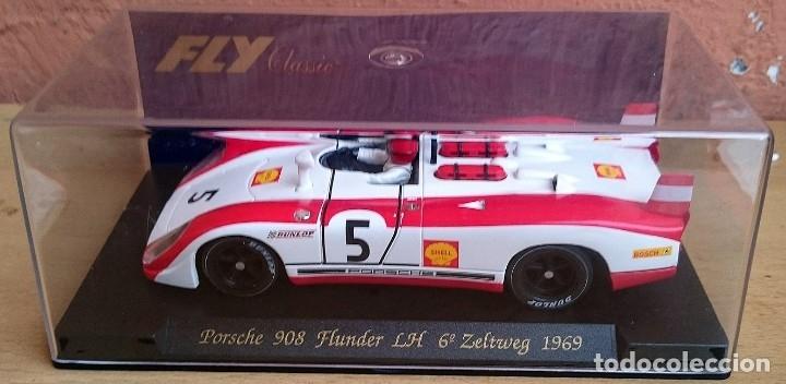 Slot Cars: FLY SLOT CLASSIC C48 PORSCHE 908 FLUNDER LH Nº5 - 6º ZELTWEG 1969 / FABRICADO EN ESPAÑA - Foto 13 - 121023399