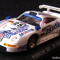 Slot Cars: SCALEXTRIC - PORSCHE GT 1, 2º LE MANS 96 - REF: A-31 - FLY - CON CAJA. Lote 122579795