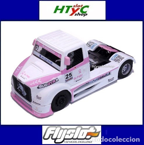FLYSLOT CAMION BUGGYRA MK08 #25 ELLEN LOHR GO PINK CANCER EDITION LE MANS ETRC 2013 TRUCK FLY 205104 (Juguetes - Slot Cars - Fly)