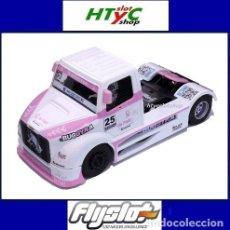 Slot Cars: FLYSLOT CAMION BUGGYRA MK08 #25 ELLEN LOHR GO PINK CANCER EDITION LE MANS ETRC 2013 TRUCK FLY 205104. Lote 220110826