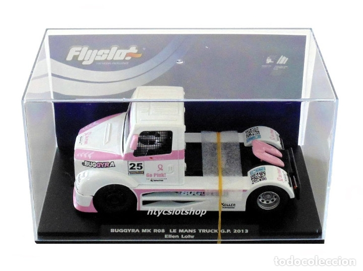 Slot Cars: FLYSLOT CAMION BUGGYRA MK08 #25 ELLEN LOHR GO PINK CANCER EDITION LE MANS ETRC 2013 TRUCK FLY 205104 - Foto 9 - 220110826