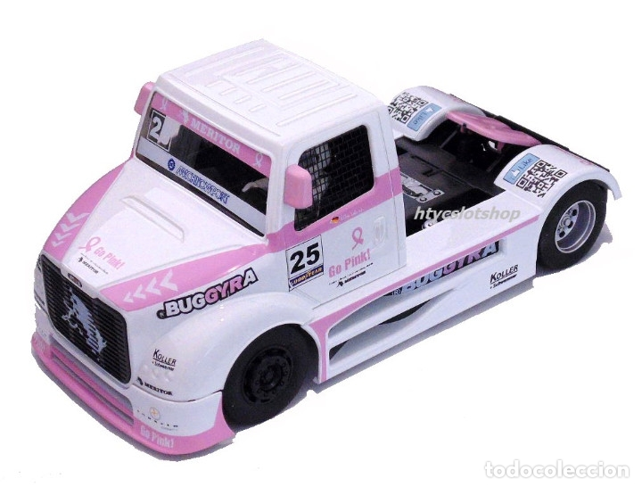 Slot Cars: FLYSLOT CAMION BUGGYRA MK08 #25 ELLEN LOHR GO PINK CANCER EDITION LE MANS ETRC 2013 TRUCK FLY 205104 - Foto 2 - 220110826