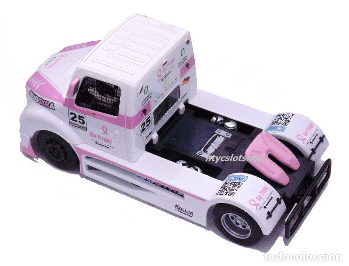 Slot Cars: FLYSLOT CAMION BUGGYRA MK08 #25 ELLEN LOHR GO PINK CANCER EDITION LE MANS ETRC 2013 TRUCK FLY 205104 - Foto 4 - 220110826