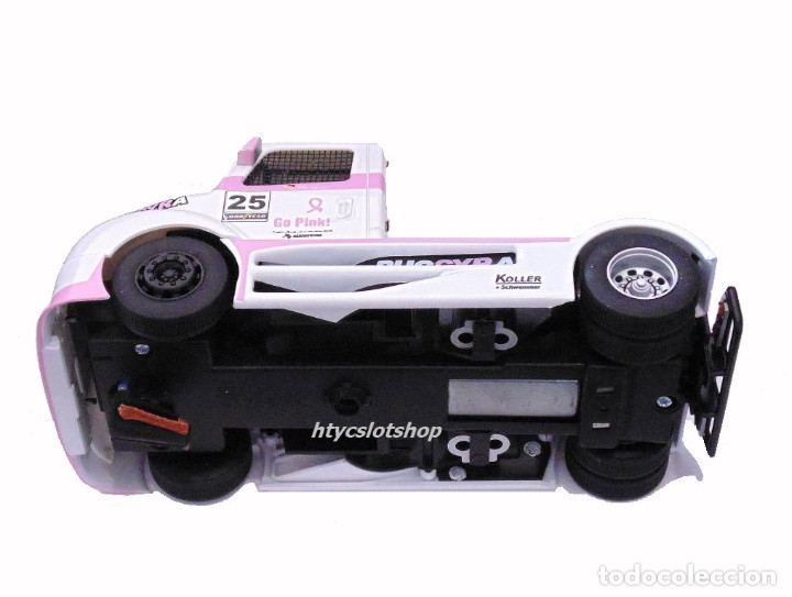 Slot Cars: FLYSLOT CAMION BUGGYRA MK08 #25 ELLEN LOHR GO PINK CANCER EDITION LE MANS ETRC 2013 TRUCK FLY 205104 - Foto 8 - 220110826
