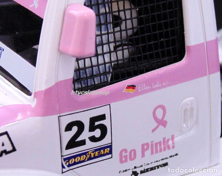 Slot Cars: FLYSLOT CAMION BUGGYRA MK08 #25 ELLEN LOHR GO PINK CANCER EDITION LE MANS ETRC 2013 TRUCK FLY 205104 - Foto 6 - 220110826