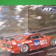 Slot Cars: POSTER FERRARI F40 IMSA 2H TOPEKA 1990 FLY – MAS SLOT. Lote 134033450