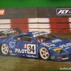 Slot Cars: POSTER FERRARI F40 24H LE MANS 1995 FLY – MAS SLOT. Lote 134201426