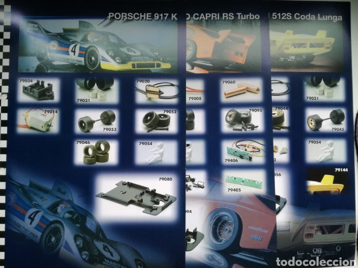 LOTE DE 29 FICHAS TECNICAS DE MODELOS DE FLY (Juguetes - Slot Cars - Fly)