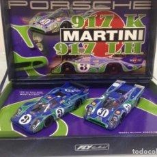 Slot Cars: SLOT, FLY TEAM-12-96074,PORSCHE 917 LH Nº3, PORSCHE 917 K Nº31, MARTINI PSICODELICO, LE MANS 1970, . Lote 140692626
