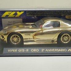 Slot Cars: J4- VIPER GTS-R ORO 2 ANIVERSARIO FLY SLOT CAR SCALEXTRIC. Lote 141794602