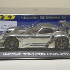 Slot Cars: J- MARCOS 600 CROMO EDICION ESPECIAL ESPAÑA FLY . Lote 141794818