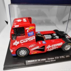 Slot Cars: FLY MAN TR 1400 JARAMA FIA ETRC 2001 TRUCK 41 ANTONIO ALBACETE REF. 08011 GBTRACK. Lote 141922677