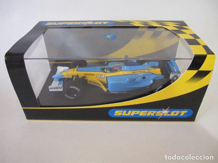COCHE DE SUPERSLOT FERNANDO ALONSO SLOT FLY CARS SCALEXTRIC NINCO NUEVO EN SU CAJA SIN USO (Juguetes - Slot Cars - Fly)