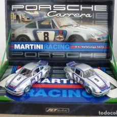 Slot Cars: FLY CARS MODELS - PORSCHE 911 CARRERA RSR - 6H VALLELUNGA 1973 MARTINI RACING. Lote 148171622
