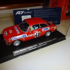 Slot Cars: FLY. ALFA ROMEO GIULIA GTV. RALLY MONTECARLO 1975. CABA-AYMAMI. REF. A-801. Lote 151459626
