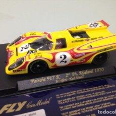 Slot Cars: SLOT, FLY C84-88006,PORSCHE 917K#012 Nº2,MARTINI PSICODELICO,J.SIFFERT-K.AHREMS, 2º 9H.KYALAMI 1970. Lote 152135090