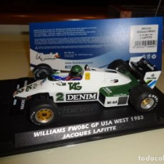 Slot Cars: FLY SLOT. WILLIAMS FW08C. GP USA WEST 1983. JACQUES LAFITTE. REF. W40102. Lote 152920706