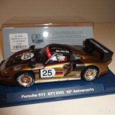 Slot Cars: FLY. PORSCHE 911 GT1 EVO. 10º ANIVERSARIO FLY. REF. A-2003. Lote 154472598
