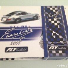 Slot Cars: SLOT, FLY 96063, PORSCHE 911 CARRERA, EDICION ESPECIAL CATALOGO S-2005 + CD REF.+CATALOGO . Lote 158715950