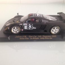 Slot Cars: SLOT, FLY E261-96002, SALEEN S7R Nº 83, TEST CAR 24H.DAYTONA 2002, MINIAUTO 2002. Lote 162339494