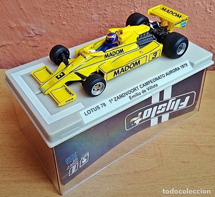 FLY SLOT 058102 - LOTUS 78 GP AURORA 1979 EMILIO VILLOTA (Juguetes - Slot Cars - Fly)