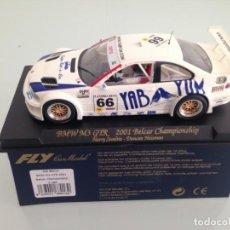 Slot Cars: SLOT, FLY A286, BMW M3-E36 GTR, YABAYUM, 2001 BELCAR CHAMPIONISHIP, . Lote 163316894