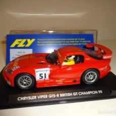 Slot Cars: FLY. DODGE VIPER GTS-R. BRITISH GT CHAMPION. REF. A-9. Lote 163587478